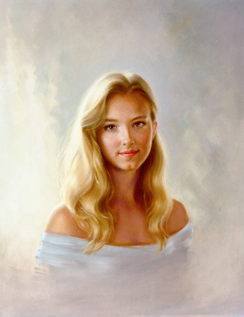 Oil Portrait, By Lynnette M. Perkes